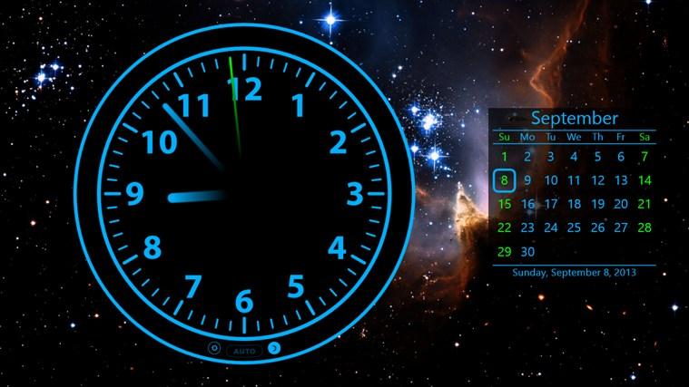заставка на рабочий стол часы и календарь № 180381 бесплатно