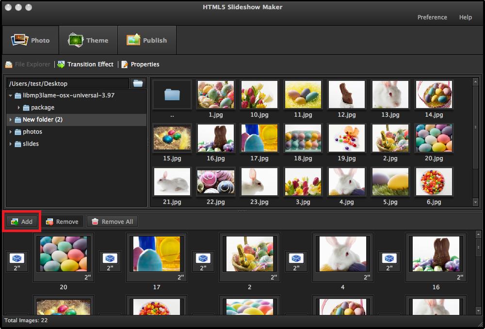 Free html5 Photo Slideshow Maker 2.0 - Download